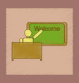 flat shading style icon table board teacher vector image vector image