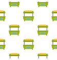 green street kiosk pattern seamless vector image vector image
