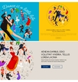 Group of dancing people yong happy man and woman vector image vector image
