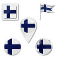 grunge finland flag national isolated vector image vector image