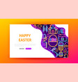 Happy easter neon landing page