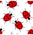 ladybug seamless vector image