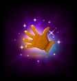 leather glove icon for slot machine game vector image
