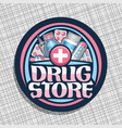 logo for drug store vector image vector image