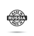 made in russia stamp on white background vector image vector image