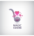 magic cuisine love cook logo vector image vector image