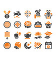 moon festival icon set vector image