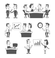 Office workers black vector image