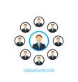 organization chart organizational structure vector image