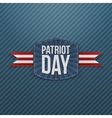 Patriot Day realistic Emblem with Ribbon vector image vector image