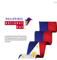 philippines national day template design vector image