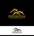 real estate residential logo icon graphic design vector image vector image