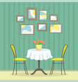 restaurant interior in classic style vector image vector image