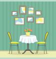 restaurant interior in classic style vector image