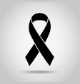 ribbon black awareness melanoma sign symbol vector image