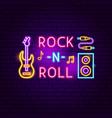 rock n roll neon sign vector image