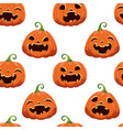 seamless pattern with different halloween pumpkins vector image vector image