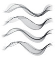 set abstract color smoke wave transparent wave vector image vector image