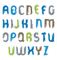 smudge alphabet capital letters set hand-drawn vector image vector image