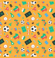 soccer set icons vector image vector image