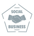 social business logo simple gray style vector image