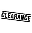 square grunge black clearance stamp vector image vector image