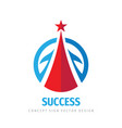 success - abstract logo design elements vector image vector image