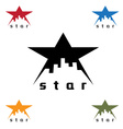 Urban star design template vector image