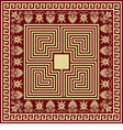 vintage golden Greek ornament Meander vector image vector image
