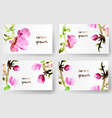 Watercolor floral background cards vector image vector image