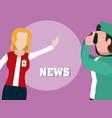 woman news reporter vector image vector image