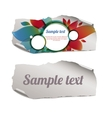colorful and blank ripped paper pieces vector image