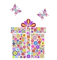 colorful gift box on white background vector image