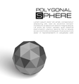 3d textured sphere vector image vector image