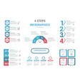 4 steps - infographic templates vector image vector image