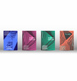 a set of modern covers vector image vector image