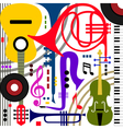 Abstract musical instruments vector image vector image