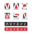 Alphabet letter set vector image vector image