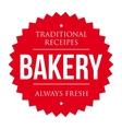 Bakery vintage badge vector image