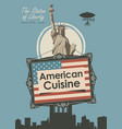 banner for a restaurant american cuisine vector image vector image