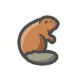 beaver river badger icon cartoon vector image vector image