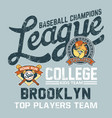 bulldog baseball college kids league vector image vector image