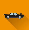 Car icon Long Shadow vector image vector image