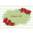 Card with Poppy flowers vector image vector image