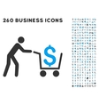 cash out icon with flat set vector image vector image