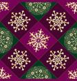 christmas geometric seamless purple and green vector image