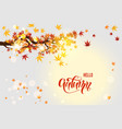 clear autumn sky vector image vector image
