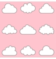clouds set icons for cloud computing for app and vector image