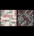 coffee pattern with text in retro style coffee vector image vector image