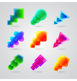 collection of different color figures vector image